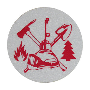 Wildland Fire Scramble (2-Inch) Round Helmet Sticker