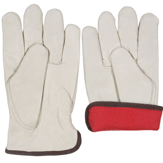 Work Glove - Leather, Fleece Lined & Elastic Back, Southern Glove