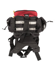 The back view of the Fireball backpack used for wildfire equipment.