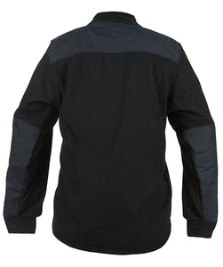 Back view of the black DragonWear wildland firefighting jacket.