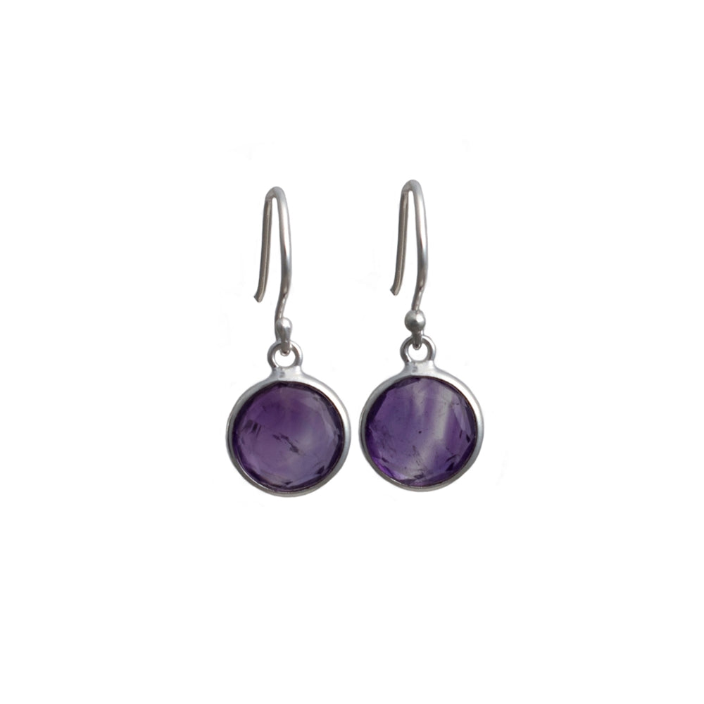 Semiprecious Stone Earrings - Round