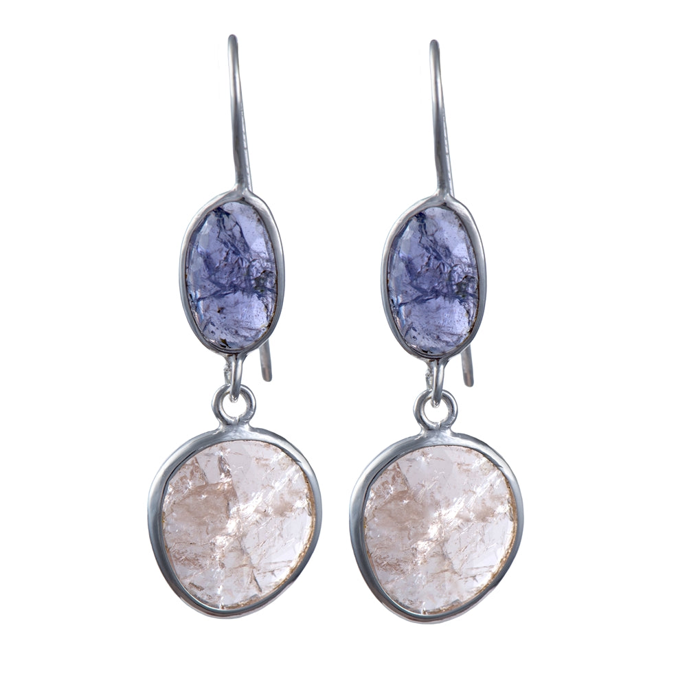 Tanzanite and Morganite Earrings