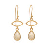 Gold Plated Drop Earrings with Citrine Gemstone