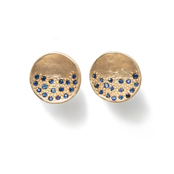 Earrings in 9k Yellow Gold with Sapphires