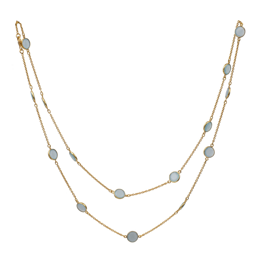 Gold Plated Semiprecious Stone Necklace
