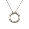 Sterling Silver Round Tube Ring Pendant On Silver Chain