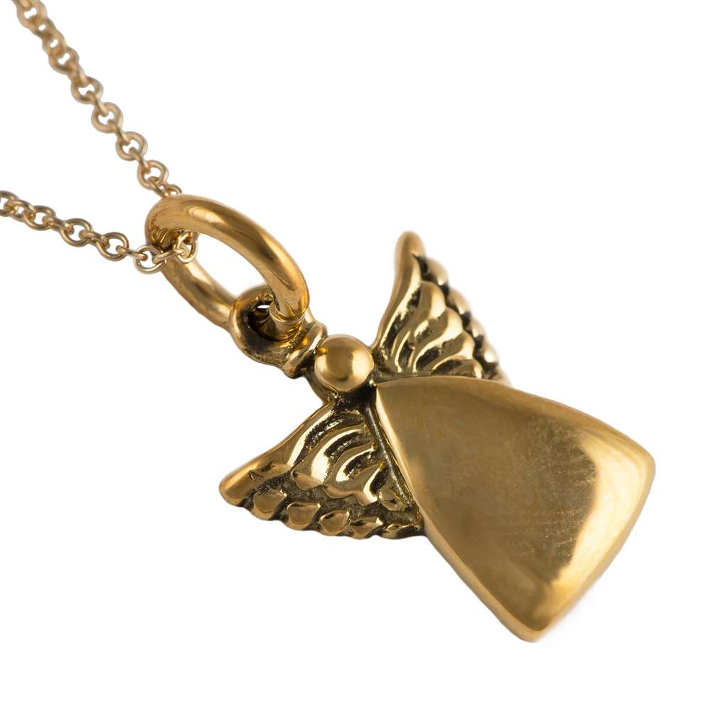 Gold Plated Silver Pendant - Angel