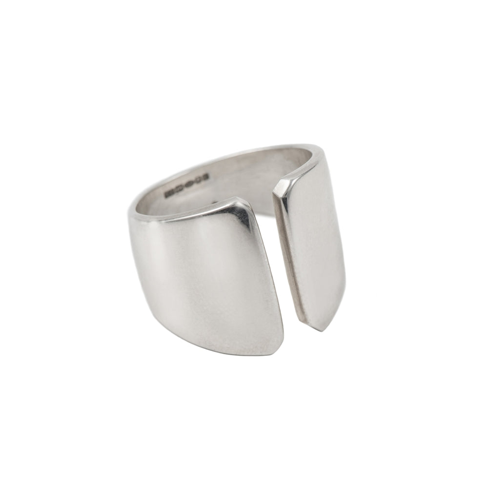 Sterling Silver Wide Chunky Gap Ring