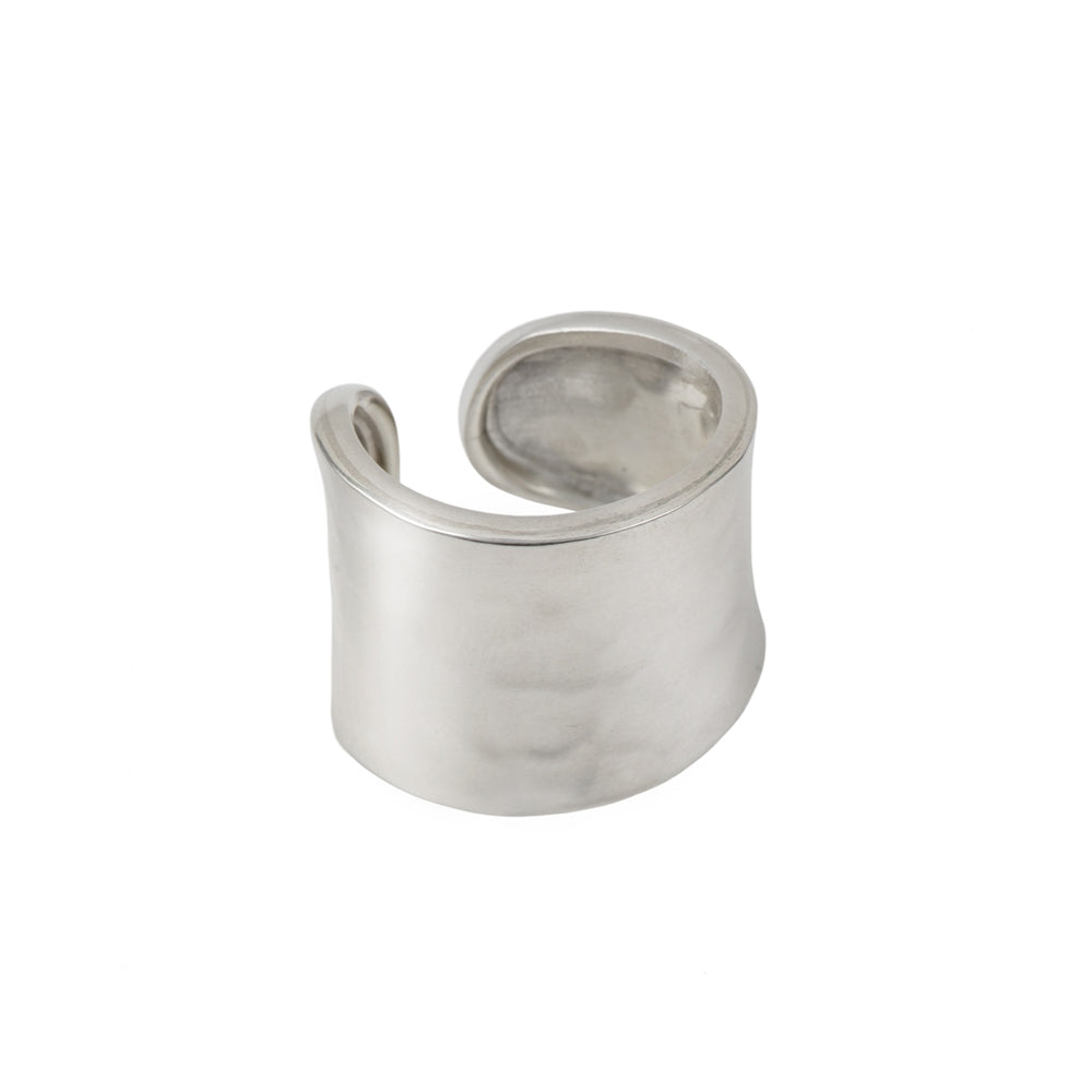 Chunky Hammered Sterling Silver Ring