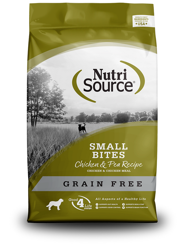 Grain Free Small Bites Chicken & Pea - bag front
