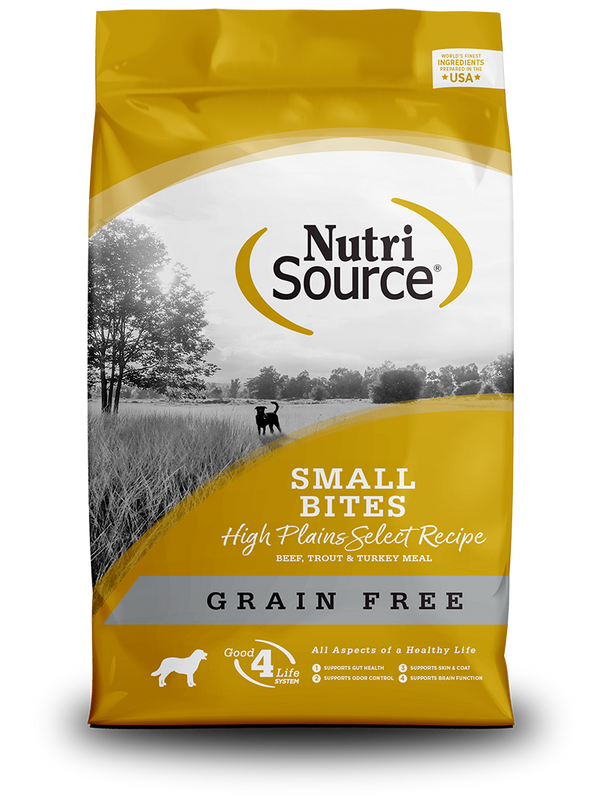 Grain Free Small Bites High Plains Select - bag front