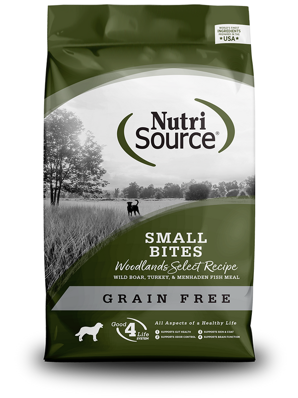 Grain Free Small Bites Woodlands Select - bag front