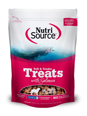 Soft & Tender Dog Treats with Salmon - 14 oz. bag front