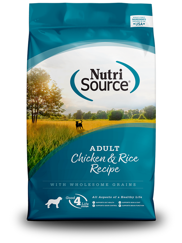 NutriSource Adult Chicken & Rice Recipe - front of bag