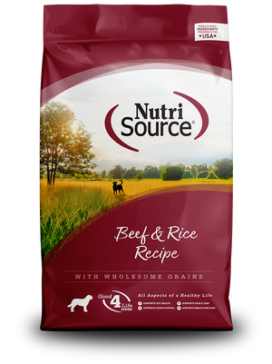 NutriSource Beef & Rice Recipe - bag front