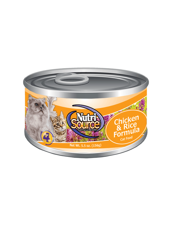 Chicken & Rice Cat Formula - can