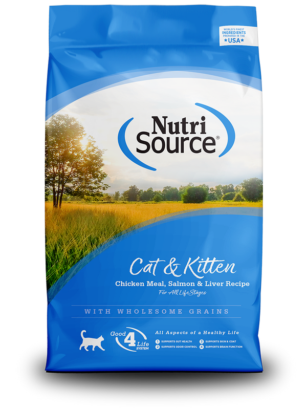 NutriSource Cat & Kitten Chicken Meal, Salmon & Liver Recipe - bag front