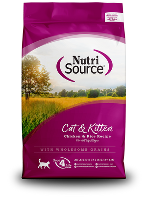 NutriSource Cat & Kitten Chicken & Rice Recipe - bag front