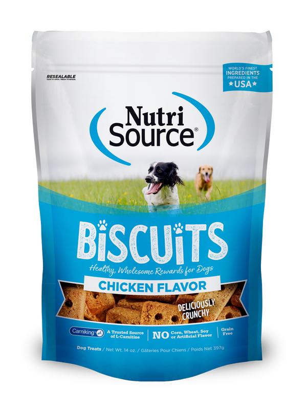 Chicken Flavor Biscuit Dog Treats - bag front