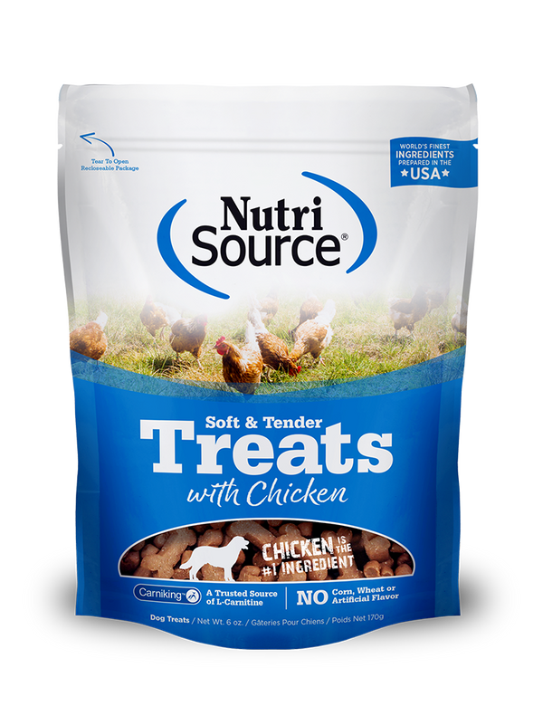 Soft & Tender Dog Treats with Chicken - bag front