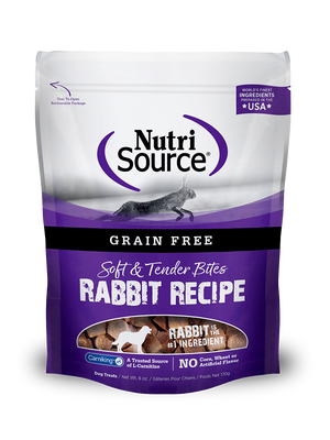Grain Free Rabbit Bites Dog Treat - bag front