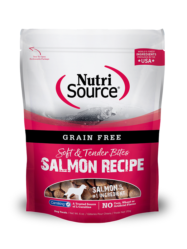 Grain Free Salmon Bites Dog Treat - bag front