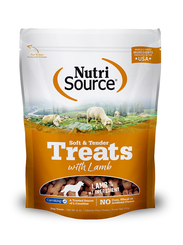 Soft & Tender Dog Treats with Lamb -6 oz. bag front