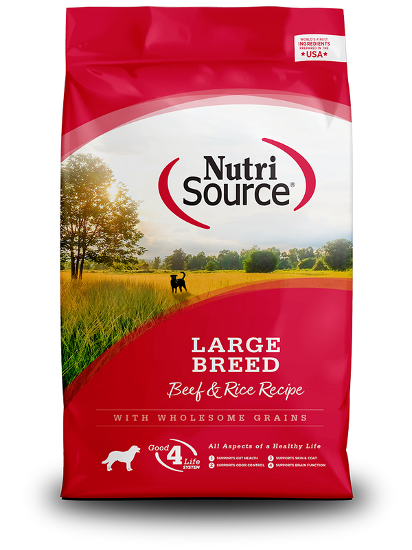 Large Breed Beef & Rice - bag front