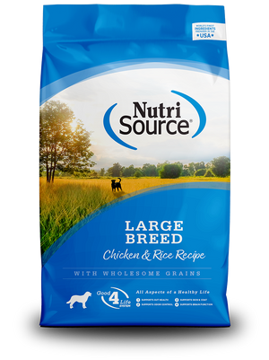 Large Breed Chicken & Rice - bag front