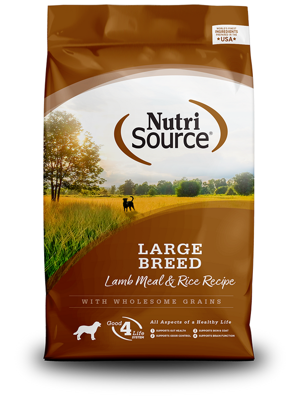 Large Breed Lamb Meal & Rice - bag front