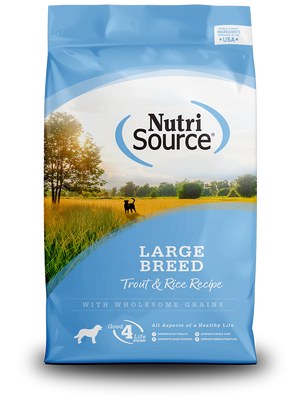 Large Breed Trout & Rice - bag front