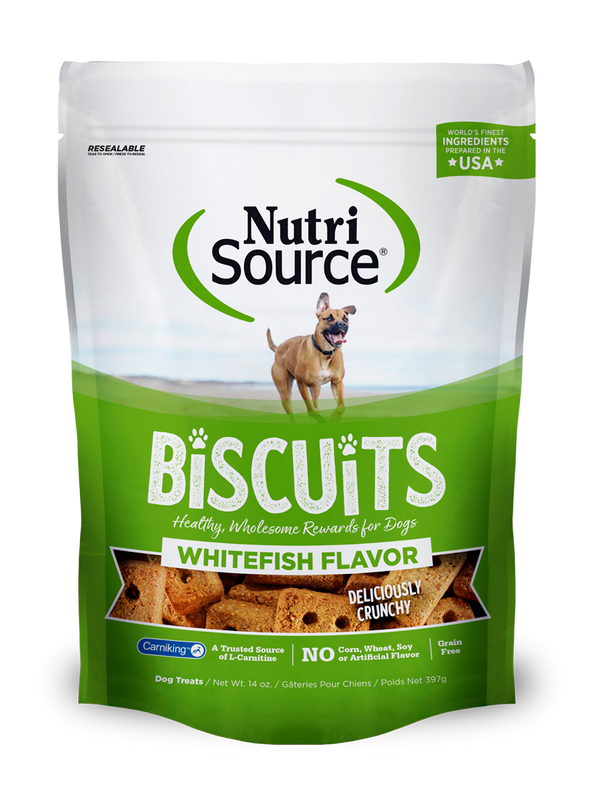 Whitefish Flavor Biscuit Dog Treats - bag front