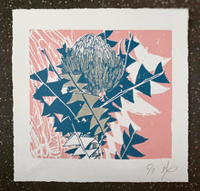 Load image into Gallery viewer, SCREEN PRINT - Banksia Baxteri Study 02 - Pink. Edition of 7. Unframed.