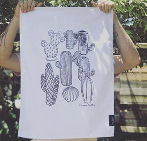 TEA TOWEL - Ceramic Cactus