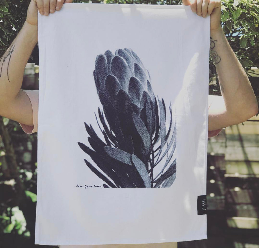 TEA TOWEL - Rose Spoon Protea