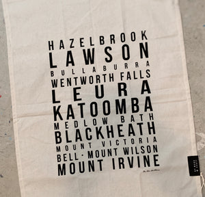 TEA TOWEL - Blue Mountains Suburbs 02