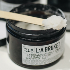 facial scrub in canister