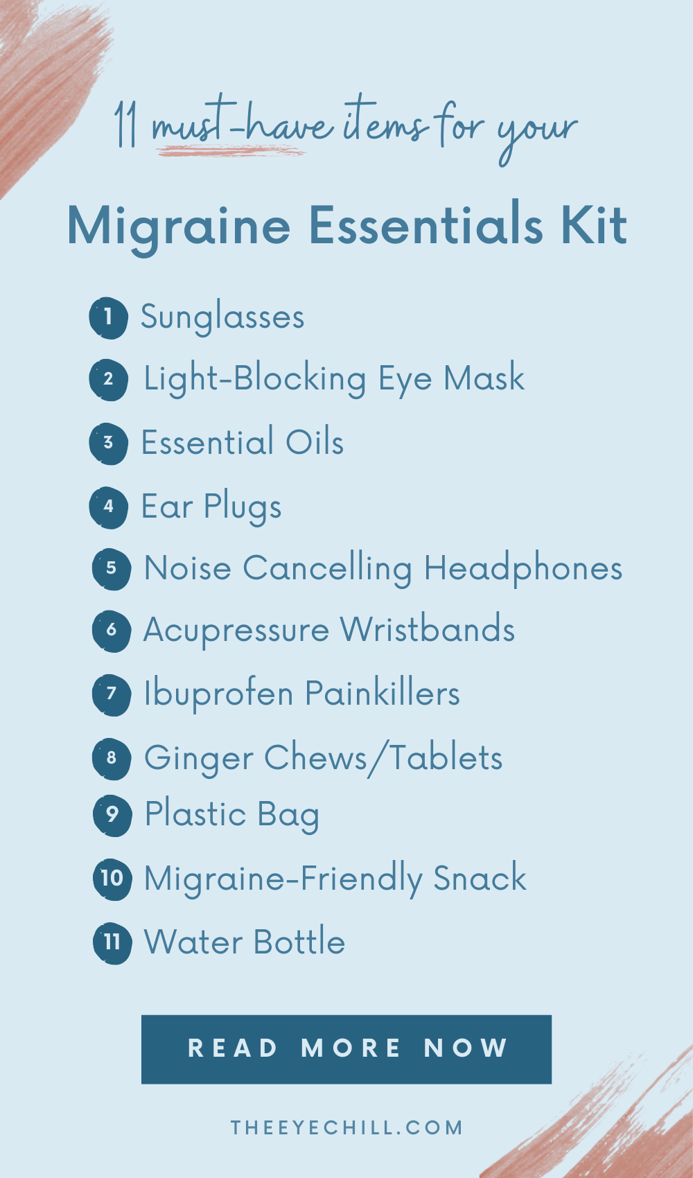 11 essential items list for your migraine relief kit