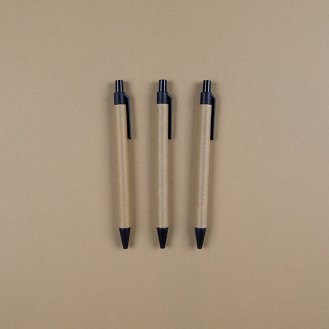 Black Biodegradable Ballpoint Pen