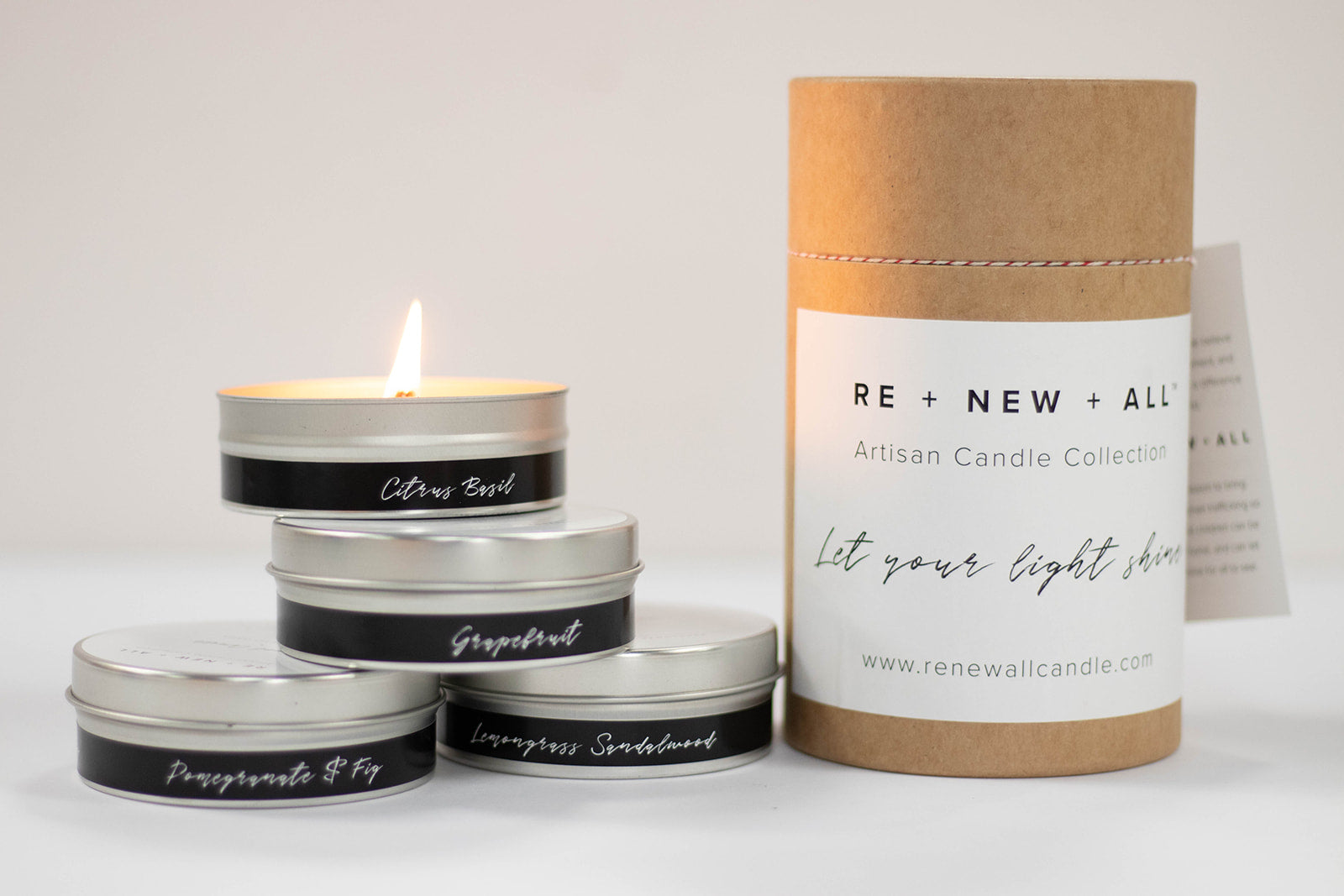 RE+NEW+ALL Travel Candle Collection Set
