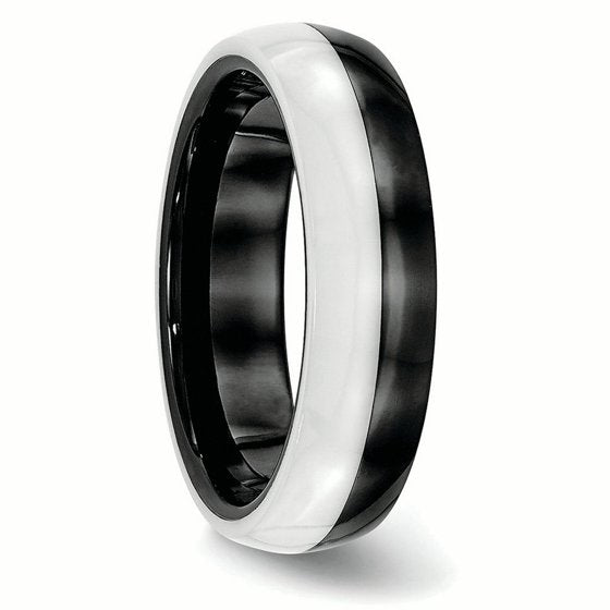 Ceramic Black and White Band