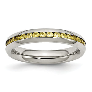 Yellow CZ Ring