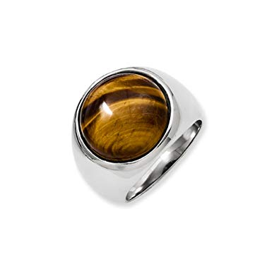 Stainless Steel Tiger's Eye Ring