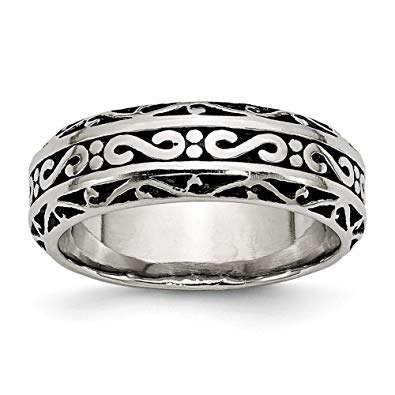 Stainless Steel Antiqued Band