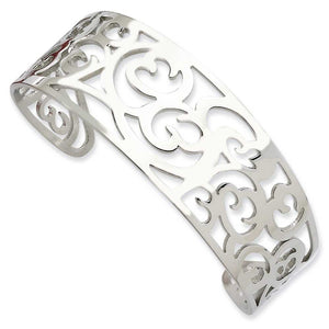 Stainless Steel Fancy Cuff Bracelet