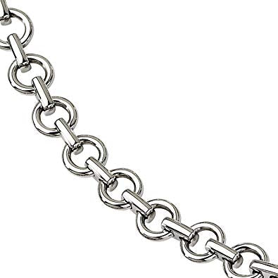 Stainless Steel Polished Links Bracelet