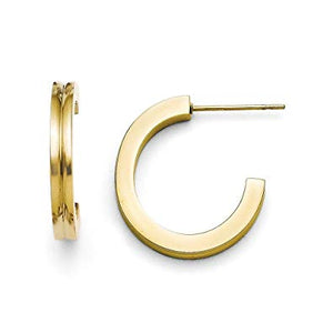 Yellow Plated J Hoop Earring