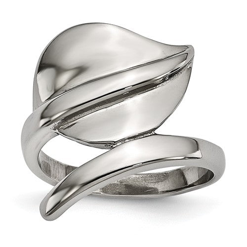 Polished Leaf Ring