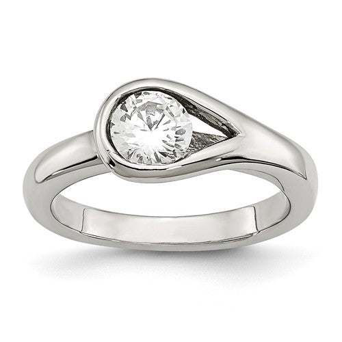 CZ Drop Ring