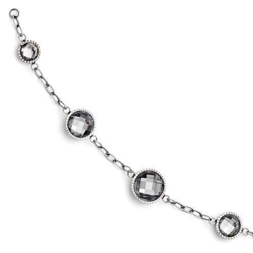 Stainless Steel Glass Polished Bracelet